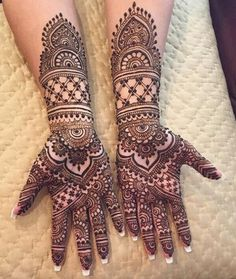 New Bridal Henna Designs India Beautiful Ideas - Latest Bridal Mehndi Designs, Indian Henna Designs, Henna Art Designs, Mehndi Designs For Girls, Modern Mehndi Designs, Wedding Mehndi Designs, Mehndi Design Pictures, Beautiful Henna Designs, Mehandi Designs