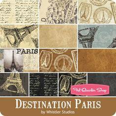 Destination Paris Fat Quarter Bundle<BR>Whistler Studios for Windham Fabrics