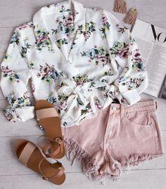 Esme Floral Top - White