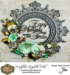 October 2016 Reveal *Rose Garden* Project Add-On Kit can be found at www.swirlydoos.com