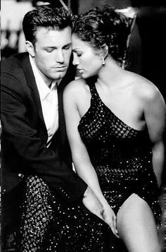 Ben Affleck and Jennifer Lopez. Note: It's J-Lo whom I think looks cute here. Never been hot for Ben Affleck.