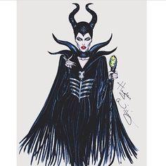 Disney Villain Maleficent Art By: Hayden Williams Hayden Williams, Disney Kunst, Arte Disney, Disney Art, Disney Style, Disney Love, Maleficent Art, Disney Divas, Estilo Disney