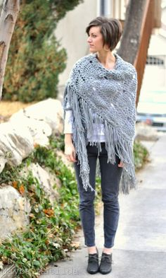 Sidewalk Shawl (crochet)