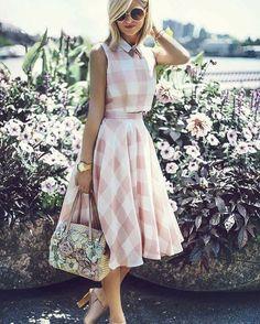 beautiful gingham + love that purse