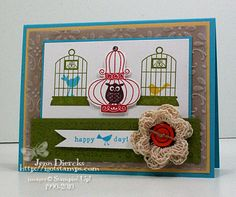 Bird-Day Wishes by Jenn D - Cards and Paper Crafts at Splitcoaststampers