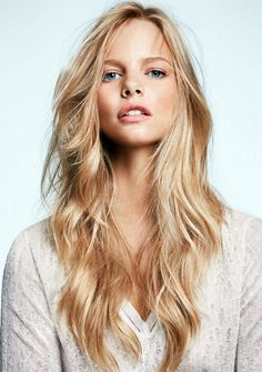 long hair, blonde, layers, waves, curls, natural