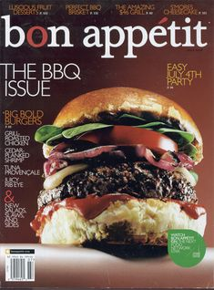 I love the look of this cover. It's a lot to take in (info, that is...-not the burger), but everything still works.  It's not cluttered, and the colors work well. Also the image isn't overly distracting (...well, unless your really hungry).    I like how four of the little article previews (or blurbs) are placed at the top of the page.    Overall, I think it's a fantastic design.