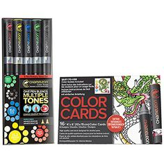 Chameleon Primary Tones Set of 5 Pens with Tattoo Color Cards