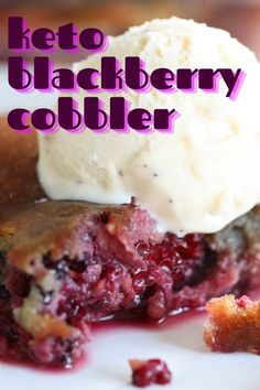Healthy Blackberry Cobbler, Blackberry Dessert Recipes, Fruit Cobbler, Low Carb Sweets, Low Carb Desserts, Low Carb Recipes, Diabetic Deserts, Healthier Desserts, Sweet Breakfast