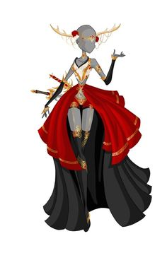 Horned Warrior by Moryartix on DeviantArt Looks like something Diaspro would wear or transform into. Dress Drawing, Drawing Clothes, Fashion Design Drawings, Fashion Sketches, Anime Outfits, Cool Outfits, Illustration Mode, Anime Dress, Anime Costumes