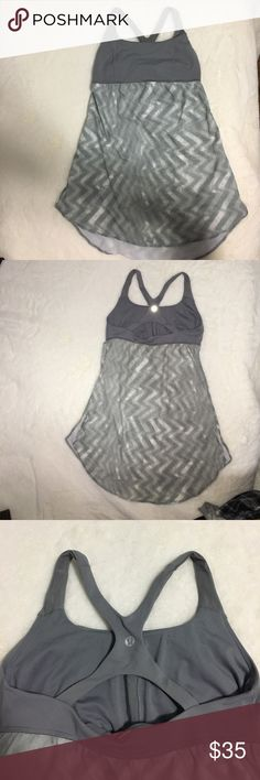 Lulu sports top Grey lululemon sports top! Worn less than 5 times lululemon athletica Tops Tank Tops