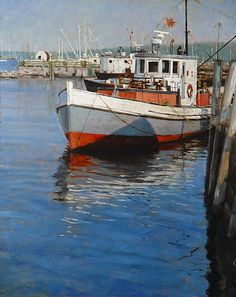 25. Working boat, Rockland. 13 3/4 x 11