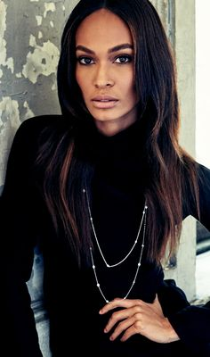 Your daily dose of glamour: model Joan Smalls in an Elsa Peretti® Diamonds by the Yard® necklace.