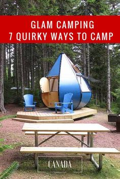 Camping in Canada - Parks Canada Quirky Accommodation Camping With Kids, Go Camping, Camping Ideas, Canadian Travel, Parks Canada, Travel Destinations, Travel Tips, Travel Info, Travel Advice