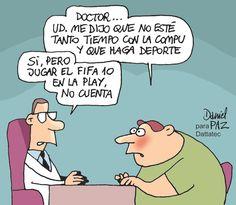 Si el médico no se sabe explicar... - Humor de Daniel Paz para DonWeb