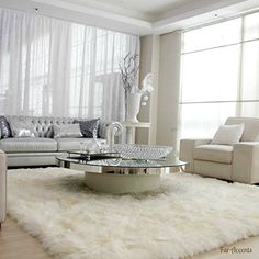 Beau Plush Faux Fur Shaggy Shag   Soft Sheepskin Pelt Rug   Re... Http. Rugs For Living  RoomLiving ...