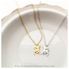 Deer Charm Chain Necklace Designs, Charm Chain Necklace Designs