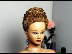 ▶ Прическа с плетением на длинные волосы. Braided hairstyle for long hair - YouTube