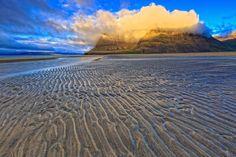 ICELAND - Beach at Bildudalur - The retreating tide left a nice sand pattern on the beach at Bildudalur.