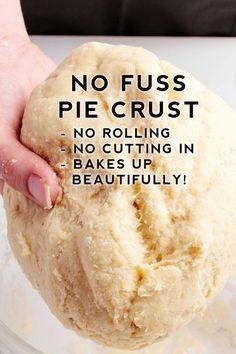No Fuss Pie Crust Recipe – the best pie crust recipe that is super easy. No Fuss Pie Crust Recipe – the best pie crust recipe that is super easy. Pie Crust Recipes, Pastry Recipes, Baking Recipes, Best Pie Crust Recipe, Pie Dough Recipe Easy, Homemade Pie Crust Easy, No Roll Pie Crust Recipe With Butter, Vegan Pie Crust, Olive Oil Pie Crust Recipe