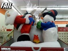 At least Frosty is warming up his hands ahead of time: Christmas Humor, Christmas And New Year, Merry Christmas, Xmas, Big Lots Christmas Decorations, Holiday Decor, Holiday Ideas, Funny Christmas Pictures, Funny Pictures