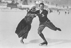 Helene Engelmann and Alfred Berger - 1924 Olympic Pair Skating Champions -Austrian figure skaters Helene Engelmann and Alfred Berger are considered pair skating pioneers.  They won the 1924 Olympic pair skating title and also won the won world pair skating title in 1922 and 1924.  Engelmann won the world pair skating title with another partner in 1913 when she was only fifteen years old and was and is the youngest world pair skating champion in history.