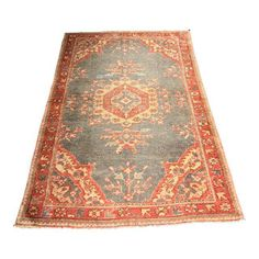 Image of Bellwether Vintage Turkish Oushak Area Rug - 3′8″ × 6′