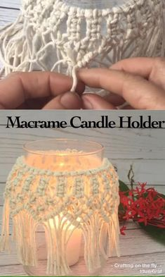 Macrame Wall Hanging Patterns, Macrame Art, Macrame Design, Macrame Projects, Macrame Patterns, Macrame Knots, Diy Candle Holders, Diy Candles, Rope Crafts