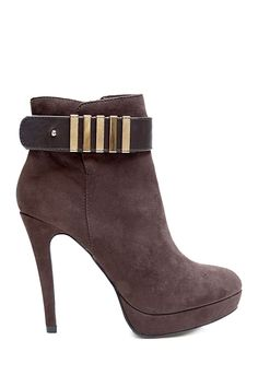 Two Lips Too Vent Ankle Strap High Heel Bootie//