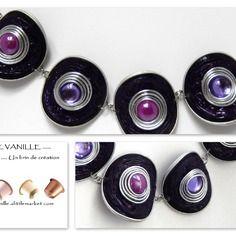 Bracelet violet en capsules nespresso Plus Diy Nespresso, Cork Art, Coffee Pods, Bijoux Diy, Jewellery Storage, Diy And Crafts, Creations, Handmade Jewelry, Jewelry Design
