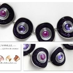 Bracelet violet en capsules nespresso