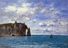 Etretat La Falaise d'Aval 1890 | Eugene Louis Boudin | Oil Painting