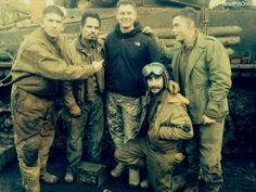 The guys on set of Fury