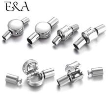 2 Sets 304 Stainless Steel Round Magnetic Clasps Ball Clasp DIY Findings 14x10mm