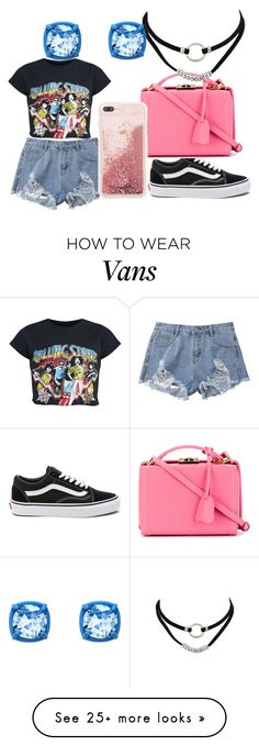 """Rolling Stone"" by lordgigi on Polyvore featuring Vans, Mark Cross and Atelier Swarovski"