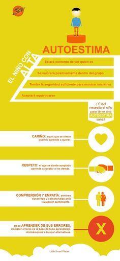 Autoestima en los Niños - Tips para Fomentarla | #Infografía #Educación