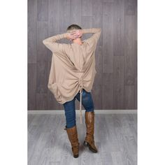 Hooded Beige Gathered Knitted Cardigan Cold Day, Hoods, Beige, Warm, Boho, Jeans, Cotton, T Shirt