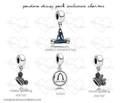 I NEED THE MICKEY AND MINNIE EAR HATS!!! Pandora Disney Parks Collection 2014 - Dangle Charms