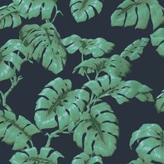 Harking back to Hollywood's golden age of decorating, Tarovine sees the Monstera Deliciosa leaf hand-painted in a dramatic proportion for a truly st...