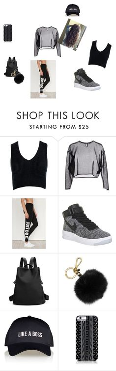 """""""like a boss"""" by brittrolon on Polyvore featuring Sans Souci, Yves Saint Laurent, NIKE, MICHAEL Michael Kors, Lipsy and Savannah Hayes"""