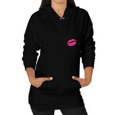 Wavy Kiss Hoodie (on woman)