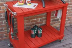 10 DIY Projects to Help You Enjoy the Beautiful Outdoors : Table Top Grill Cart by Ayisha at The Pursuit of Handyness