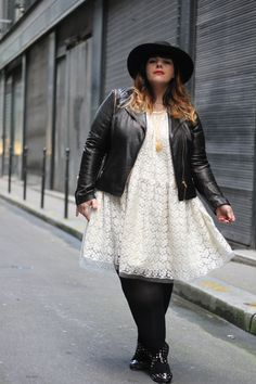 Le blog mode de Stéphanie Zwicky/ love the combo of lace and leather.