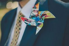 From Lego Batman to beer bottle caps, grooms are giving a nod to their quirky passions with some brilliantly alternative & unique wedding boutonnières.