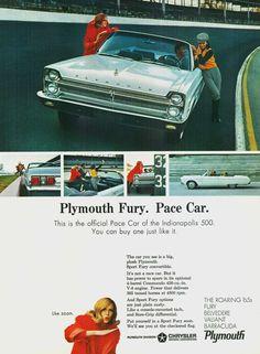 "1965 Plymouth Fury Pace Car Replica - ""Like zoom"""