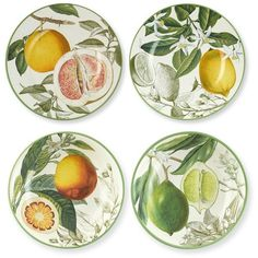 Botanical Citrus Bowls, Set of 4 ($50) found on Polyvore featuring home, kitchen & dining, furniture, kitchen, art and housewares