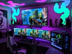 Best Video Game Room Ideas [A Gamer's Guide] Tags: Gaming room setup ideas, vide. Best Video Game Room Ideas [A Gamer's Guide] Tags: Gaming room setup ideas, video game room ideas Best Gaming Setup, Gamer Setup, Gaming Room Setup, Pc Setup, Gaming Chair, Cool Gaming Setups, Cheap Gaming Setup, Gaming Computer Setup, Gaming Tips