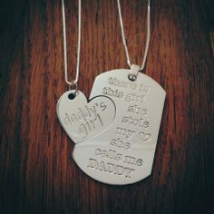 There is this girl she stole my heart she calls me DADDY. Crafted in 925 Sterling Silver, add your custom design instructions [optional]..   $89.99   Custom Jewelry Pendant Sterling Silver