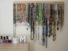 Necklace Holder by MarissaHuber, via Flickr