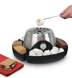 Flameless Marshmallow roaster - Lowes, and Hammacher Schlemmer carries it YUM